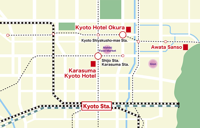 KYOTO HOTEL GROUP map